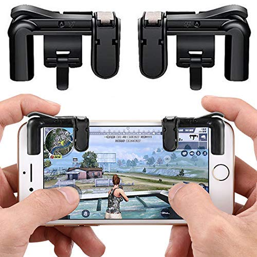 Agoz Mobile Game Controller Shoot Aim Shooter Trigger for Apple iPhone 11 PRO XS MAX, XR,X 8 7, Samsung Galaxy S10 Plus, S10e, Note 9 8, S9, S8, Google Pixel 3A XL, Moto Z4 Z3 Z2 X4, OnePlus 6T, 7 PRO