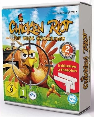 Chicken Riot Wii Bundle SE (inkl. 2 Pistolen)
