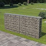 Festnight Mur à Gabion avec Couvercles Panier en Gabion Acier Galvanisé 200 x 20 x 85 cm