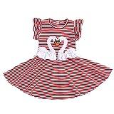 1-6 Años,SO-buts Niña Pequeños Bebés Niñas Princesa Dibujos Animados Cisne Vestido con Estampado Animal Verano Encantador Falda Plisada Trajes Ropa (Rojo,5-6 años)