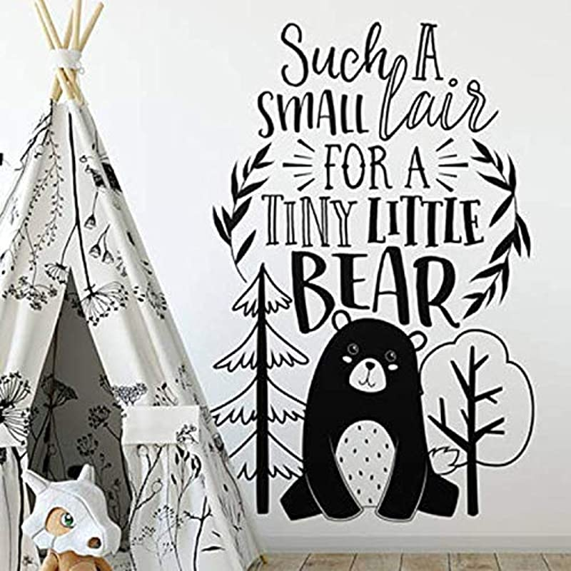 PANG Bear Wall Decal Woodland Animals Wall Sticker For Nursery Quotes Wall Decor Home Decorations Wall Mural 4264Cm
