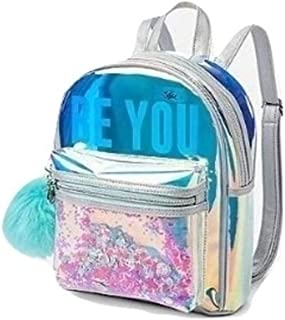 Live Justice Holographic Mini Backpack BE You with Shakey Mermaid Glitter
