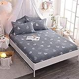 GAOXUE Spannbettlaken für Wasser,Bettbezug aus Baumwolle, rutschfeste Jugendbettbezüge, Matratzenbezug für die Wohnung, geeignet für EIN doppeltes Kingsize-Bett (F_150cmx200cm + 28cm)
