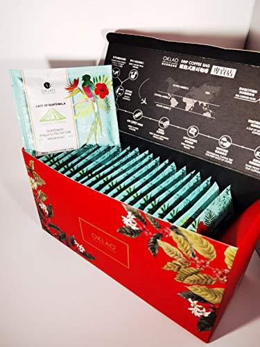 OKLAO Guatemala Antigua La Flor Del Cafe Drip Coffee Bag Kaffee 20 Stk. in Geschenkverpackung (20)