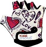 KIDDIMOTO Kinder Fahrradhandschuhe Fingerlose für Jungen und Mädchen/Fahrrad Handschuhe/Bike Kinder Handschuhe - Liebe - M (4-8y)