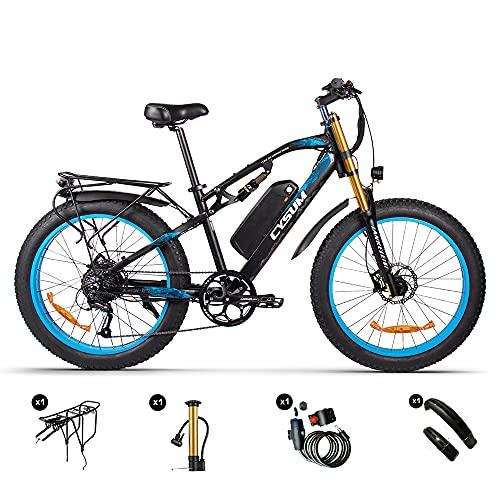 RICH BIT M900 Bici Elettriche 1000W 26'x4.0' Ebike Adulto,Mtb Fat Bike,Batteria Rimovibile al Litio 48V 17Ah,Shimano 9 Velocità,Doppia Sospensione,Pedalata Assistita Unisex
