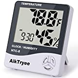 Digital Thermometer Indoor Hygrometer Room Thermometers and Humidity Gauge with Temperature Humidity Monitor by AikTryee