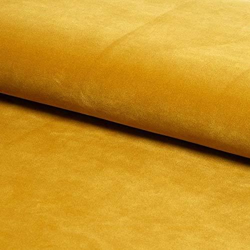 SLEEP ZONE Plush Velvet Fabric Upholstery Soft Feel Cushion Craft (Mustard)