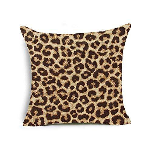 Funda de cojín para sofá Cuadrado de Fundas de Piel Animal Cebra del Leopardo Cojín Sofá Cama Cubiertas 45x45 cm #12