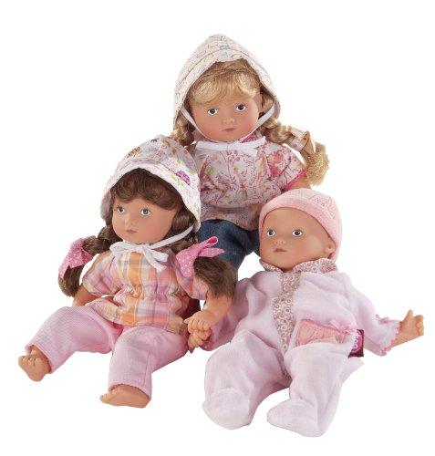 Götz 1287214 Mini Muffin, 22 cm, blond, mit Haaren, gemalte Augen - Puppe in der Mitte -