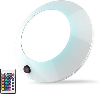 HONWELL Plafonnier LED à Piles Salle de Bains Éclairage Plafonnier Télécommandée Lumière LED de Plafond sans Fil pour Bai...