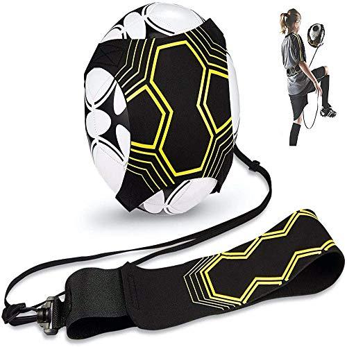 Nv Wang Fußball Kick Trainer,Soccer Trainer Solo Volleyball Trainingshilfe mit Verstellbarem Taillengürtel Geschick Praxis Universal Passt # 3# 4#5 Fußballe fur Kinder,Erwachsene