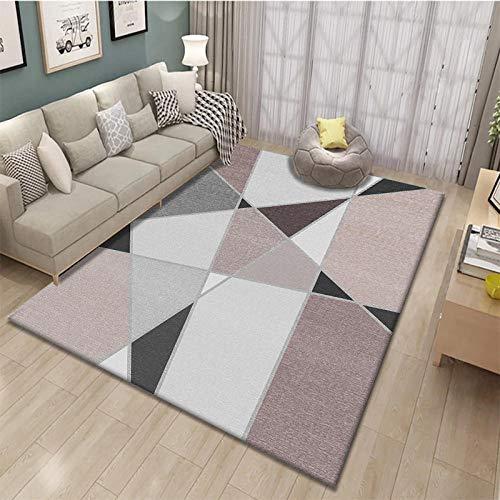 SlimpleStudio Alfombra Habitación Inicio Alfombras de Estar Minimalista Alfombra diseño de tamaño del sofá del Dormitorio colchón: 79 * 118in hogar Decoracion Salon (Size : 55 * 79in)