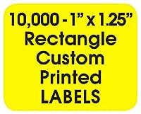 印刷ラベル カスタム長方形 1インチ x 1.25インチ ビジネス製品ブランドステッカーロール インクカラー1個 (米国製)