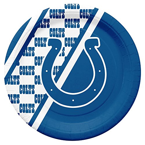 NFL Indianapolis Colts Disposable Paper Plates, Pack of 20