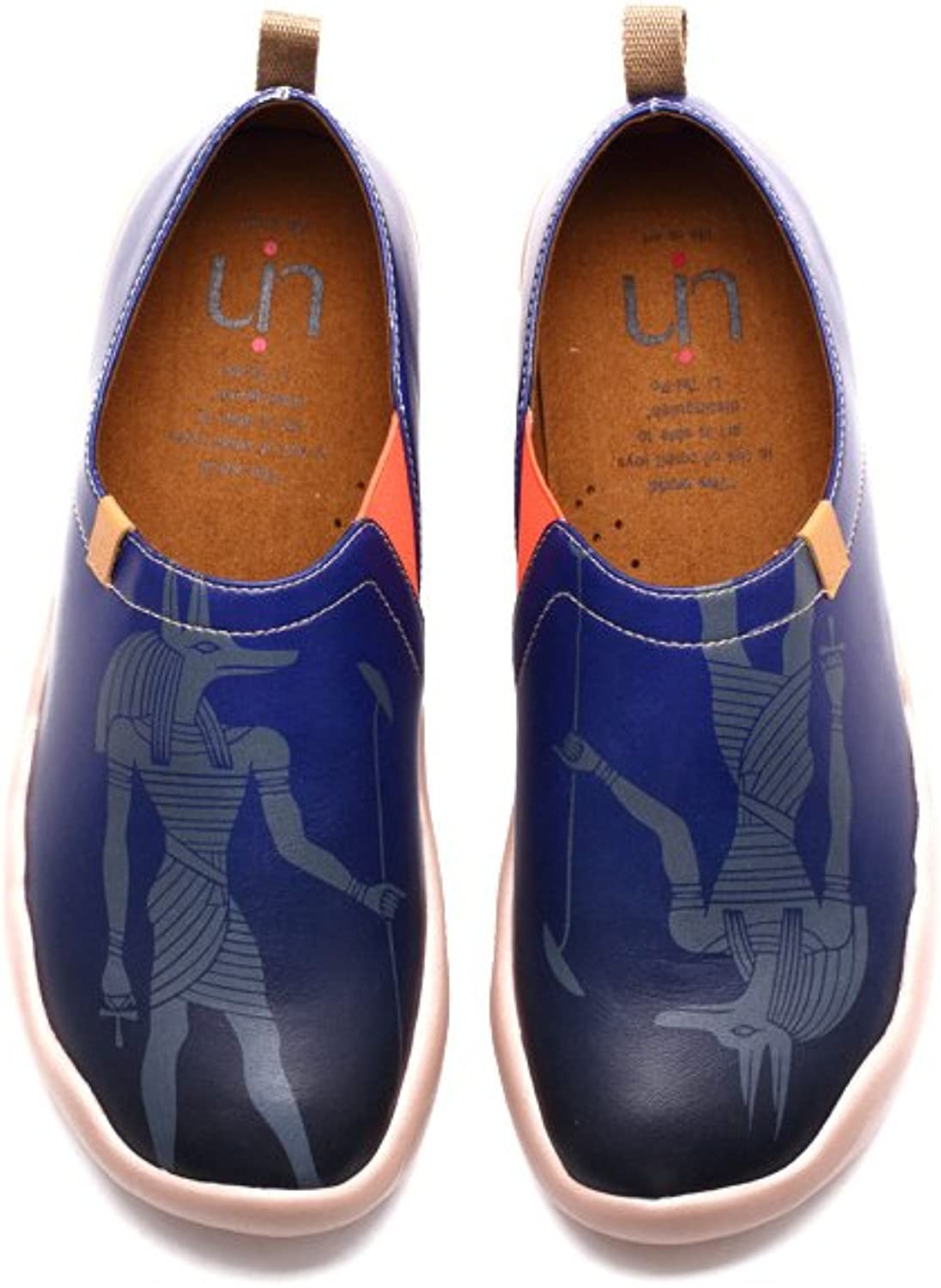 UIN Men's Anubis Painted Leather Loafer shoes bluee
