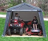 Shelter Giant 11212 Shed, Instant Garage, 12'x12', Grey