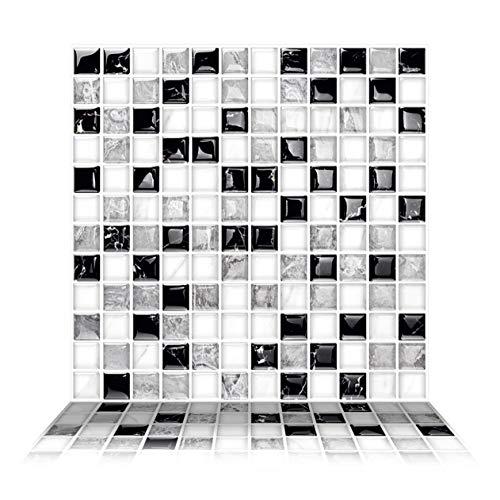 Tic Tac Tiles - Premium Peel and Stick Wall Tile Backsplash in Mosaic Design (Alaska, 6)