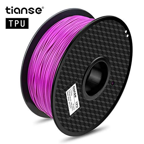TIANSE Lila 3D TPU Filament 1,75 mm für 3D Drucker 1 kg, Dimensionsgenauigkeit +/- 0,03 mm MEHRWEG