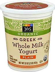 365 Everyday Value, Organic Greek Whole Milk Yogurt, Plain, 32 oz