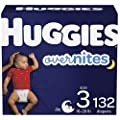 Nighttime Baby Diapers Size 3, 132 Ct, Huggies Overnites