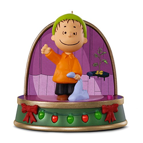 Hallmark Keepsake Christmas Ornament 2018 Year Dated, Peanuts A Charlie Brown Christmas, Linus With Sound and Light
