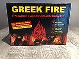Greek Fire Holzkohle-Briketts 3,5 kg für Holzkohlegrills BBQ und Camping