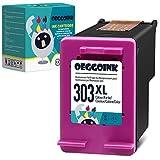 Oeggoink Cartucho de tinta remanufacturado para HP 303XL 303 XL Para uso con 6220 6230 6232 6234 6252 6255 6258 7120 7130 7132 7134 7155 7158 Tango ( color).