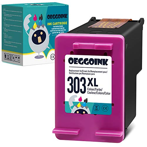 Oeggoink Cartouche Compatible avec HP 303 303XL Cartouche d'encre Multipack, pour Tango, Tango X, Envy Photo 6220 6230 6232 6234 7130 7134 7830(1Couleur)