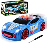 Car Toys - Simulation Car Speaker Comes with Engine Sounds -Dynamic Music Toy Car & Lights- Electric Sport Racing Toy Car Model Vehicle- 3,4,5,6,7,8 Year Olds Xmas Gift Girls Toys Car for Boys