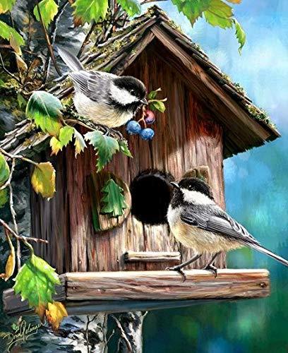 QQSGBD Punto de Cruz Animal Pájaro de la Costura Fija for Kits Scenery Completa Bordado Invierno Lona Blanco 14CT de Bricolaje Home Decor 40x50cm (Color : CT 137, Size : 14CT)