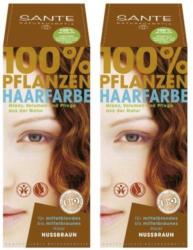 Sante - Tinte de pelo a base de plantas (juego de 2 x 100 g)