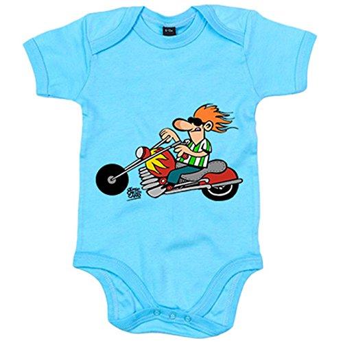 Body bebé Betis el motero verdiblanco - Celeste, 6-12 meses