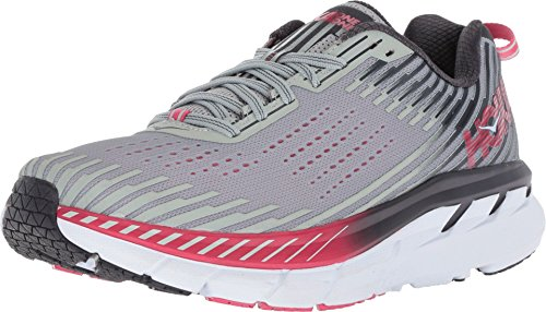 HOKA ONE ONE Women's Clifton 5 Running Shoes, Alloy/Metal Size 11 US