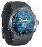 Bruni Schutzfolie kompatibel mit LG Watch Sport Folie, glasklare Bildschirmschutzfolie (2X)