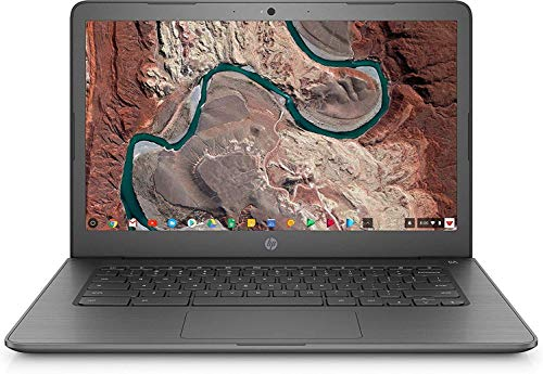 HP Chromebook 14 14' Laptop Computer, for Education or Student, Intel Celeron N3350 Up to 2.4GHz, 4GB DDR4, 32GB eMMC, 11+ Hrs Battery, USB 3.1 Type-C, Chrome OS, Online Class Ready, BROAGE Mousepad