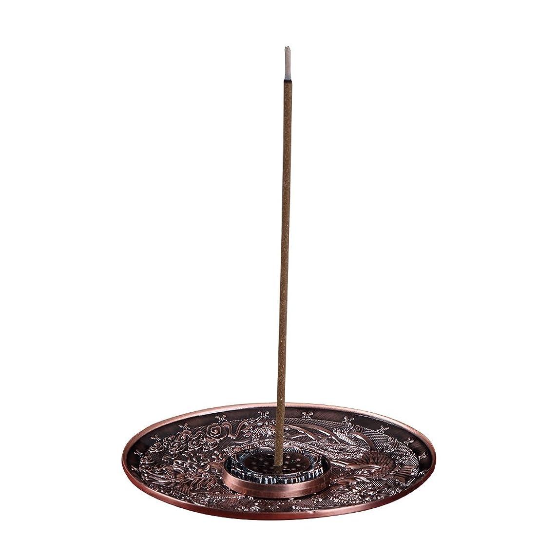 市の中心部現代のひばり善本堂(ぜんほんどう)香炉 香立て お香用具 お線香用可 アロマ香炉 竜と鳳凰銅雕