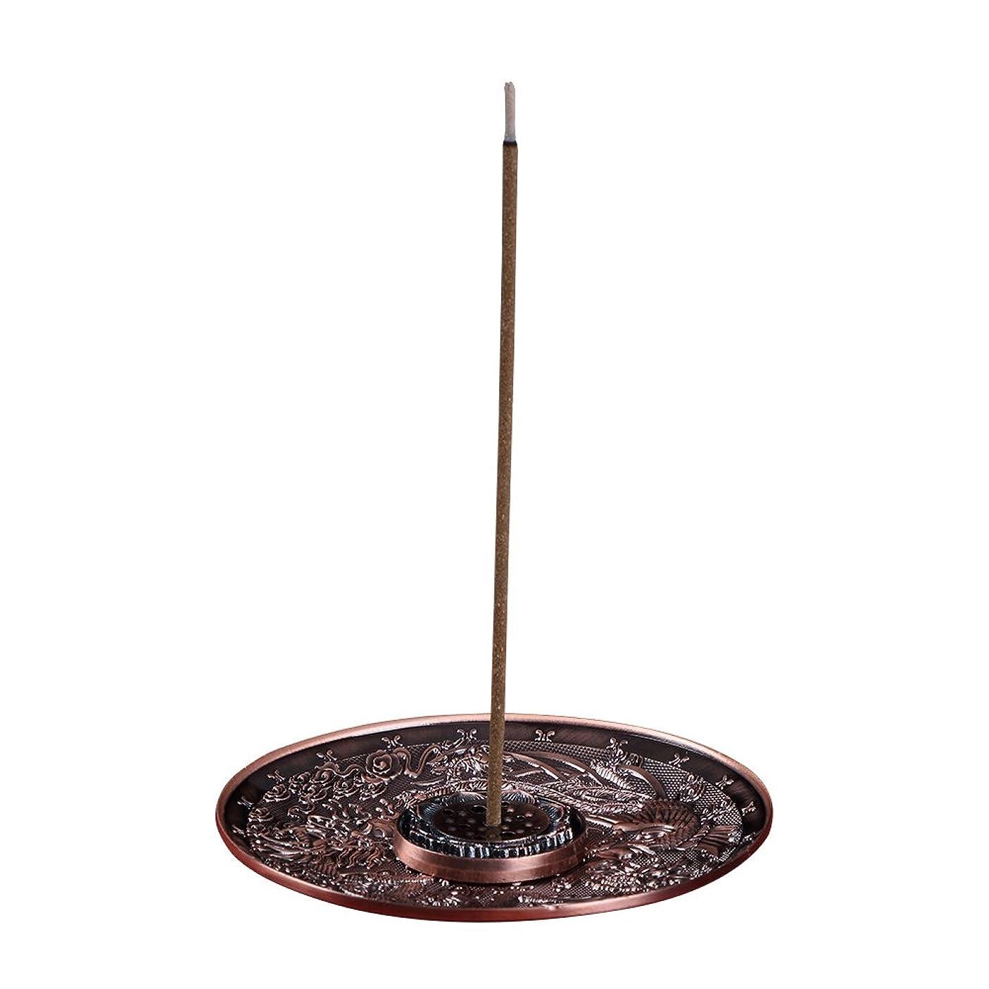 競う分離するストライク善本堂(ぜんほんどう)香炉 香立て お香用具 お線香用可 アロマ香炉 竜と鳳凰銅雕