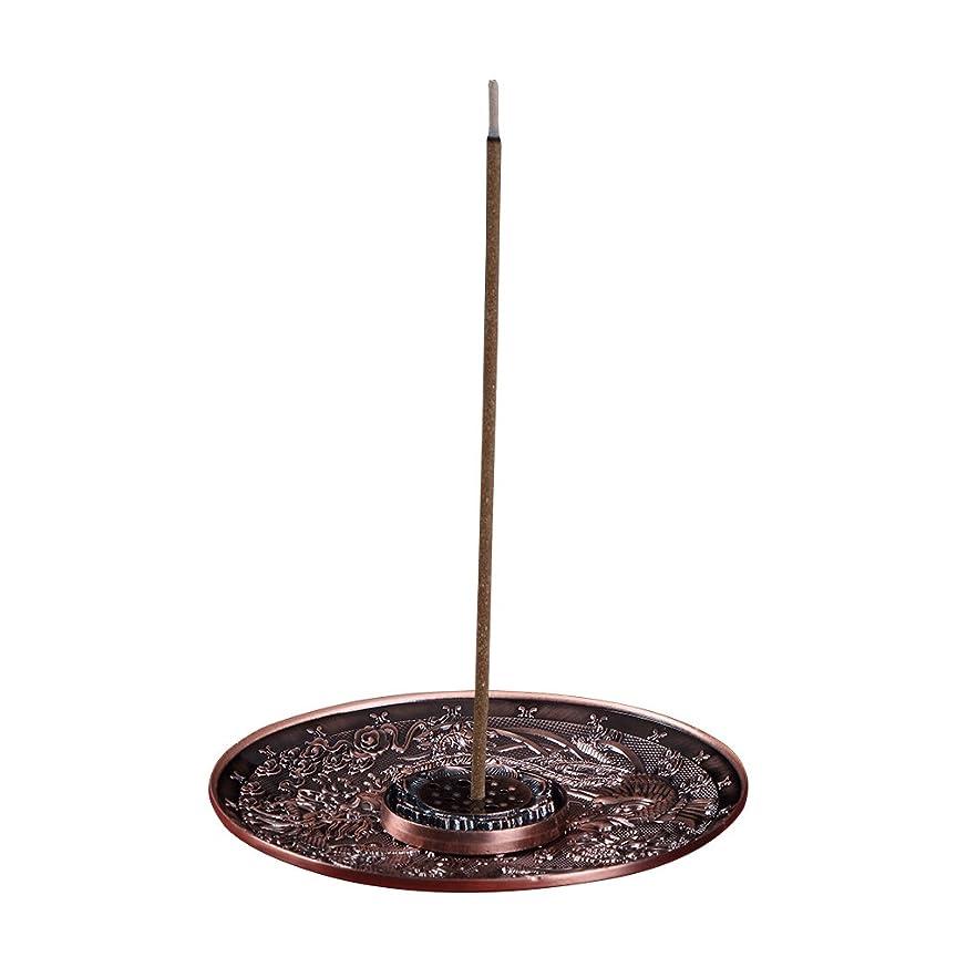 善本堂(ぜんほんどう)香炉 香立て お香用具 お線香用可 アロマ香炉 竜と鳳凰銅雕