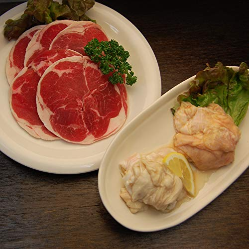 肉のあおやま 4種類の中から選んで頂く 選べるジンギスカン ホルモンセット(味噌ジンギスカン)