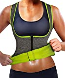 GAODI Women Waist Trainer Vest Slim Corset Neoprene Sauna Tank Top Zipper Weight Loss Body Shaper Shirt (S,Gray)
