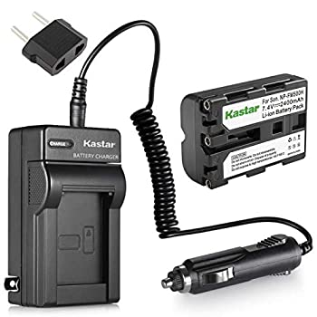 Kastar NP-FM500H Battery  1-Pack  and Charger Kit for Sony DSLR-A100 A200 A300 A350 A450 A500 A550 A560 A580 A700 A850 A900 Alpha SLT A57 A58 A65 A65V A77 A77V A77 II A77M2 A99 A99V CLM-V55 Cameras