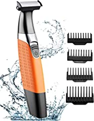 Cocoda Shaver Electric Wet/Dry Hair Cutting Machine Beard Cutter USB Oplaadbaar Draadloos, Hybride Precision Trimmer Body Hair Trimmer met 4 Top Combs Cleaning Brush*