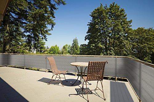 Floracord Balkonumrandung HDPE 0,90 x 5 m, grau