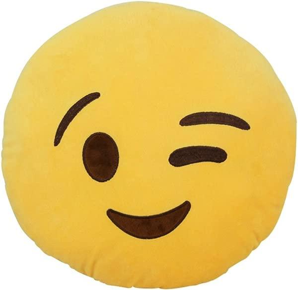 Rolling Buy Emoji Plush Pillows Wink
