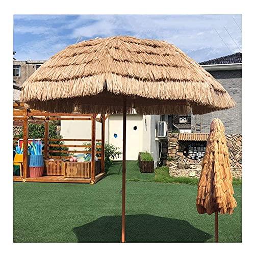Paraguas De Sombra De Sol Al Aire Libre, Sombrilla De Paja Puede Inclinarse 45° Hierba De Cuerda PP Retardante De Llama Prevención De Fuego para La Piscina del Jardín, Patio, Cámping