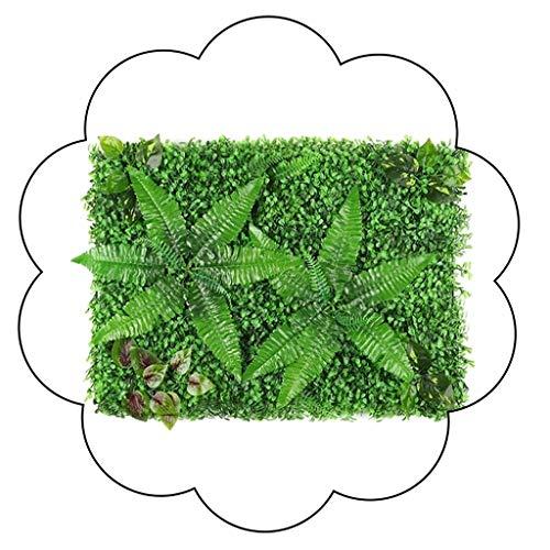 XEWNEG Grüne Kunststoff-Anlage Panels Künstlich, Heckenzaun Privacy Screen Rasen, for Innen Außen Wand Boden Dekoration (40 × 60 cm) (Color : 01)