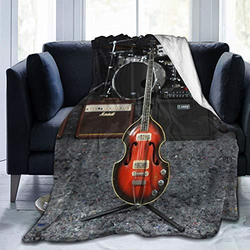 WGYWE Manta de forro polar para sofá con diseño de guitarras eléctricas...