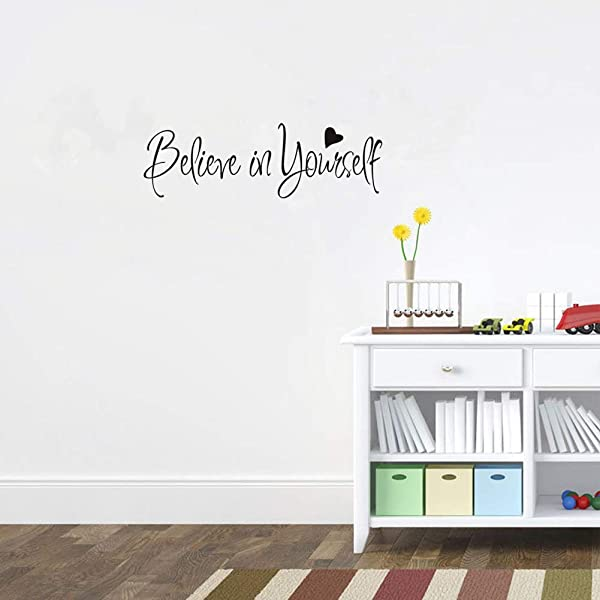 ADECNS Believe In Yourself Wall Sticker Home Decor Vinyl Wall Decal 22 4 X7 9