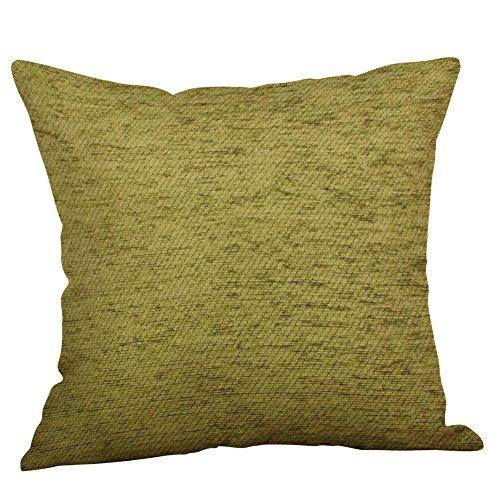 Sylar Funda de Cojín Almohada Verde Lima Crema Natural,Fundas de Almohada de Lino y algodón, diseño Vintage, Color Verde Lima Natural